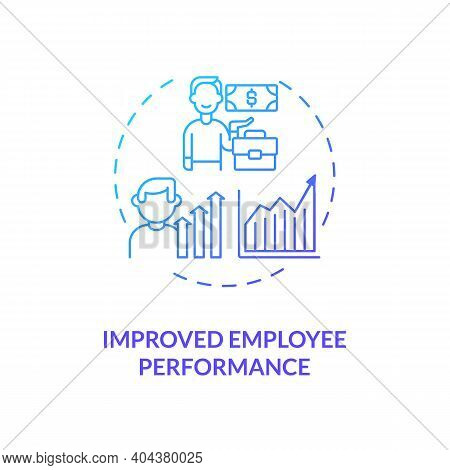 Improved Employee Performance Concept Icon. Staff Training Idea Thin Line Illustration. Organisation