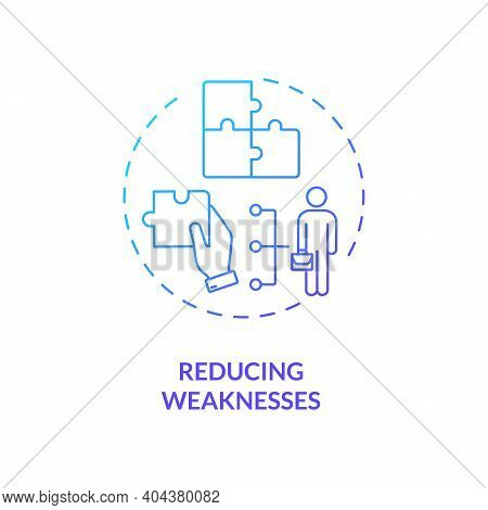 Reducing Weaknesses Concept Icon. Staff Training Idea Thin Line Illustration. Overcoming Workplace W