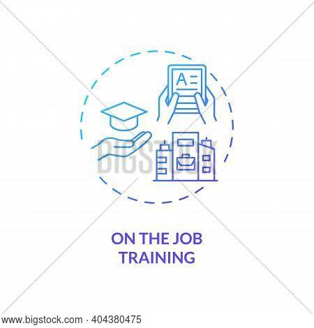 On-the-job Training Concept Icon. Staff Development Method Idea Thin Line Illustration. Skills, Know