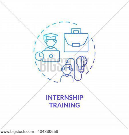 Internship Training Concept Icon. Gaining Practical Experience Idea Thin Line Illustration. Getting