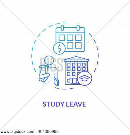 Study Leave Concept Icon. Paid Leave Idea Thin Line Illustration. Ability To Pursue Studies Course.