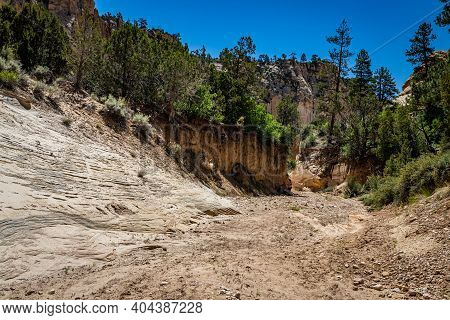 Lick Wash Is A Slot Canyon Whose Rock Walls Are Formed By Water Erosion From Flash Floods At Grand S