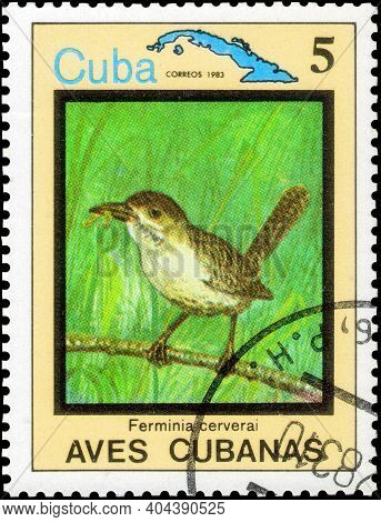 Saint Petersburg, Russia - December 05, 2020: Stamp Printed In The Cuba With The Image Of The Zapata