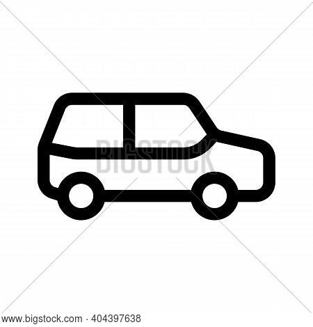 Suv Crossover Outline Icon Isolated On White Background.