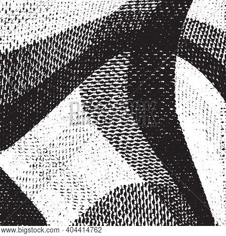 Distressed Grainy Thread Overlay Stripe Fabric Texture. Grunge Cloth Messy Background. Dirty Rough E