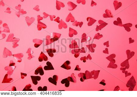 Valentines Day. Background Frame. Pink Valentine's Day Background Picture Frame with Red Hearts. Room for Image or text. February 14th is the day for Lovers World Wide. Happy Valentines Day.