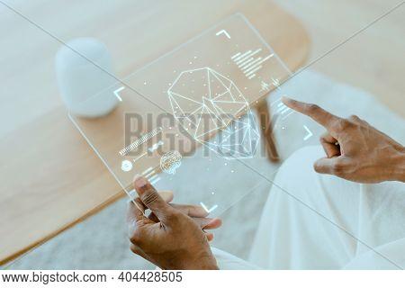 Transparent tablet with smart speaker smart home technology