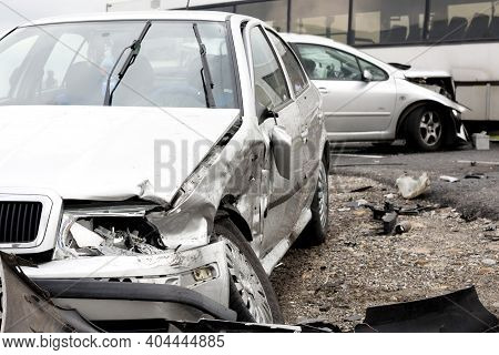 Car Crash Accident On The Road, Insurance