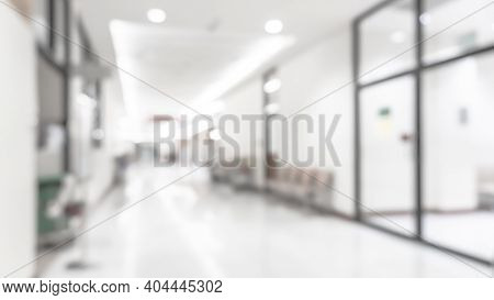 Medical Clinic Blur Background Hospital Service Center In Patient's Ward Blurry Perspective View Of