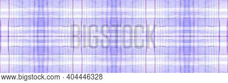 White Flannel Checks. Watercolor Tartan Border. Abstract Gingham Ornament. Seamless Flannel Checks.