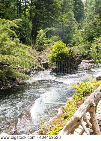 El Venado River, In Conaripe, Panguipulli, In The Middle Of The Villarica National Park. Los Rios Re