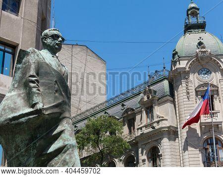 Santiago De Chile, Chile - January 26, 2018: : Monument To Chilean Statesman And Political Figure. S