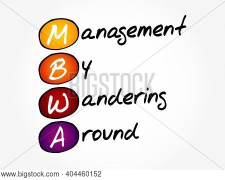 Mbwa - Management By Wandering Around Acronym, Business Concept Background