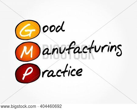 Gmp - Good Manufacturing Practice Acronym, Business Concept Background
