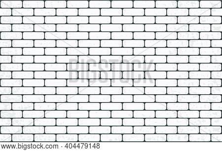 White Brick Wall. Clean Brickwork. Brick Background