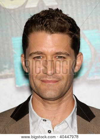 LOS ANGELES - JUL 23:  Matthew Morrison arriving to FOX All-Star Party 2012  on July 23, 2012 in West Hollywood, CA