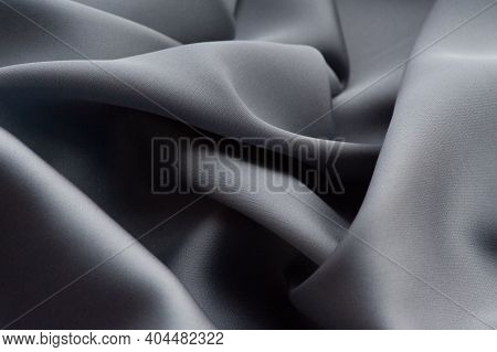 Grey Silk Fabric.this Grey Satin Fabric Is Perfect For Making Fabric