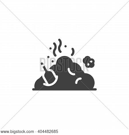 Garbage Pile, Rubbish Vector Icon. Filled Flat Sign For Mobile Concept And Web Design. Smelly Trash