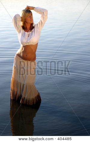 Blond Woman In The Water