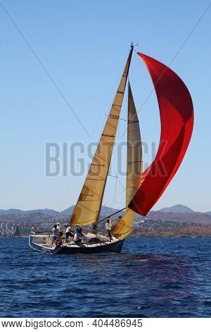 Bodrum,turkey. 18 August 2016: The Sailing Races Have Been Performed By The Organization Of Turkey S