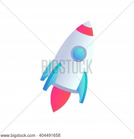Rocket Vector Icometric Icon. 3d Business Start Up Concept, Produc Startup Sign For Web Site, Apps,