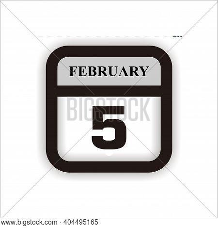 Calendar Icon 5 Isolated On White Background, Calendar Icon Vector Flat Modern, Calendar Icon, Calen