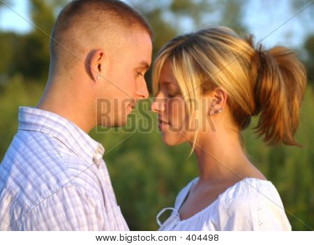 Couple In Tender Moment