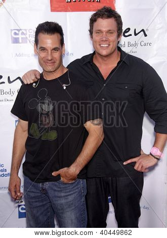 LOS ANGELES - APR 21:  ADRIAN PASDAR & BOB GUINEY Band From TV's 2nd Annual Block Party On Wisteria Lane  on April 21, 2012 in Hollywood, CA