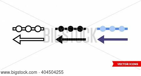 Incoming Data Icon Of 3 Types Color, Black And White, Outline. Isolated Vector Sign Symbol.