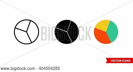 Investment Portfolio Icon Of 3 Types Color, Black And White, Outline. Isolated Vector Sign Symbol.