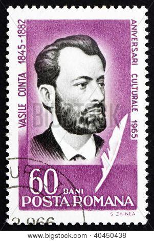 Postage stamp Romania 1965 Vasile Conta, Philosopher
