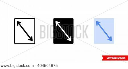 Page Size Icon Of 3 Types Color, Black And White, Outline. Isolated Vector Sign Symbol.