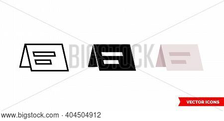 Reservation Card Icon Of 3 Types Color, Black And White, Outline. Isolated Vector Sign Symbol.