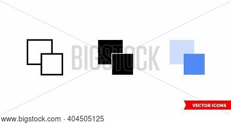 Send Backward Icon Of 3 Types Color, Black And White, Outline. Isolated Vector Sign Symbol.