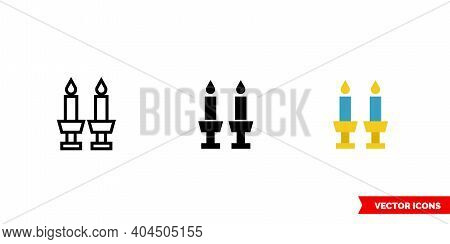 Shabbat Icon Of 3 Types Color, Black And White, Outline. Isolated Vector Sign Symbol.
