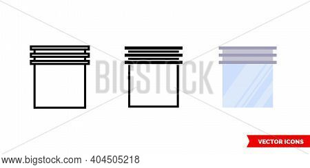 Shutter Open Icon Of 3 Types Color, Black And White, Outline. Isolated Vector Sign Symbol.