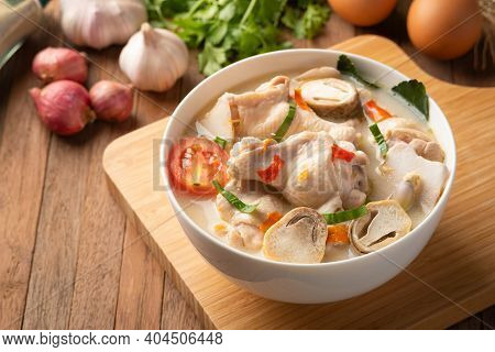 Spicy Chicken Drumstick Soup (tom Yum Gai) ,spicy Soup Thai Style.