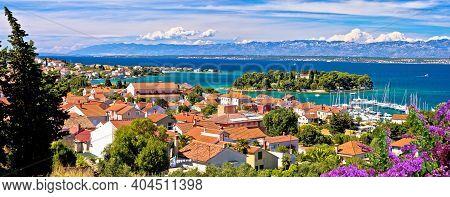 Zadar Archipelago. Island Of Ugljan Waterfront And Galovac Islet Panoramic View, Preko In Dalmatia R