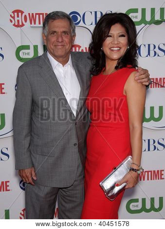 LOS ANGELES - AUG 03:  LES MOONVES & JULIE CHEN Summer TCA Party 2011 - CBS / SHOWTIME / CW   on August 03, 2011 in Beverly Hills, CA