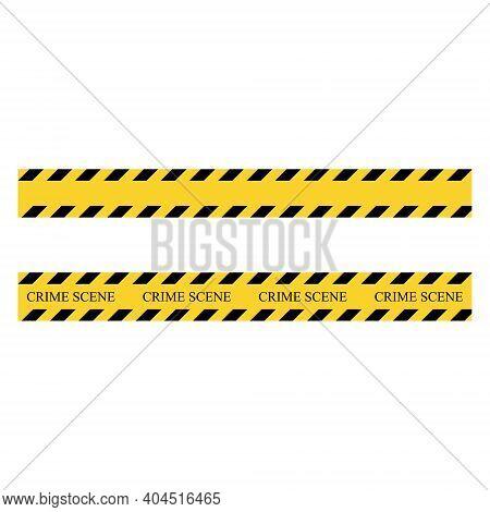Crime Scene Stripe. Yellow And Black Set Stripes. Barricade Construction Tape. Vector Illustration I