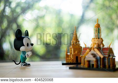 Bangkok, Thailand - January 23, 2021 : Figure Model Of Funko Pop! Mickey Mouse Thailand's National C