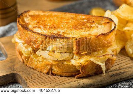 Homemade Onion French Melt Sandwich