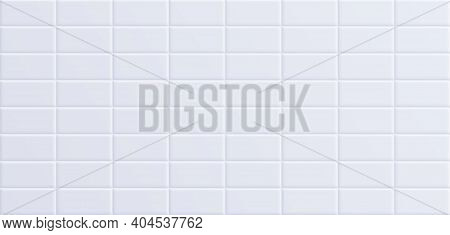 White Bathroom Tile, Clean Ceramic Wall Surface Background.
