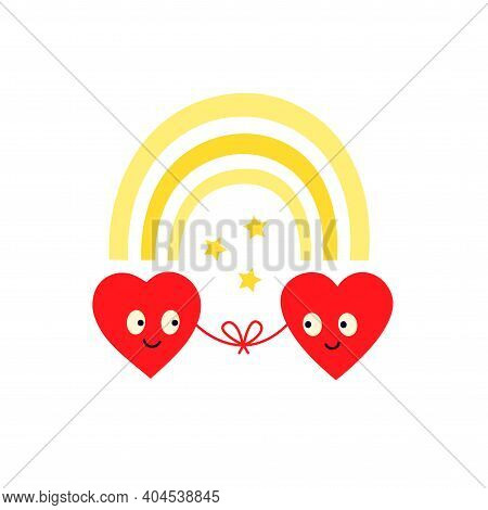 Red Thread Of Love, Support And Understanding. Meet Your Soulmate. Together Forever. Be My Valentine