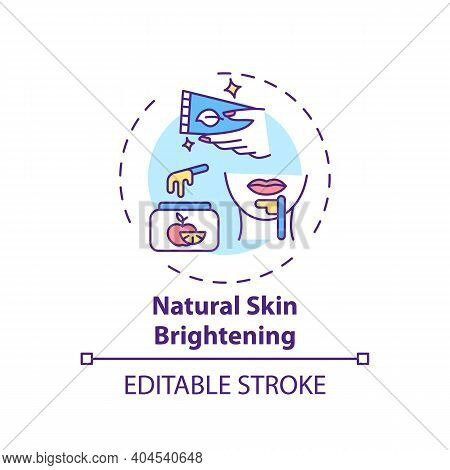 Natural Skin Brightening Concept Icon. Home Spa Idea Thin Line Illustration. Moisturizing Skin. Mass