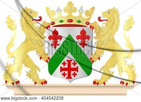 3d Zundert Coat Of Arms (north Brabant), Netherlands. 3d Illustration.