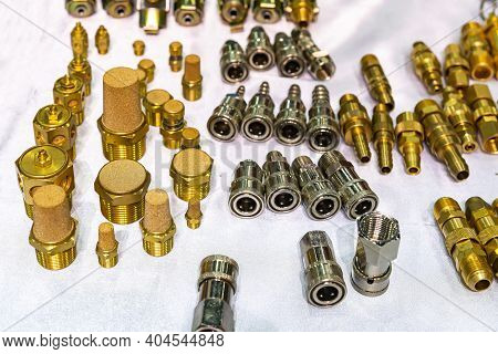 Air Exhaust Brass Silencer Muffler And Metal High Pressure Hose Fitting Quick Coupling Connect For A