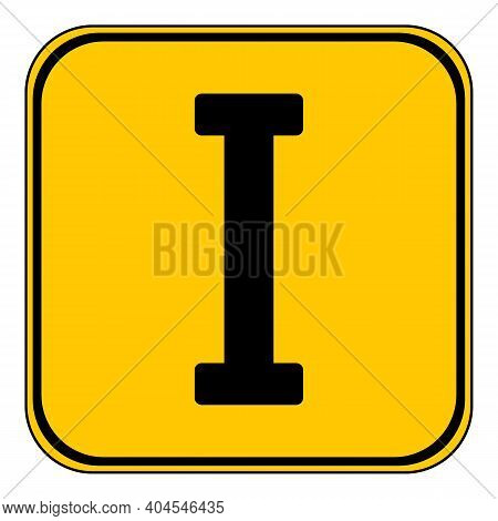 Roman Numeral One Button On White Background. Vector Illustration.