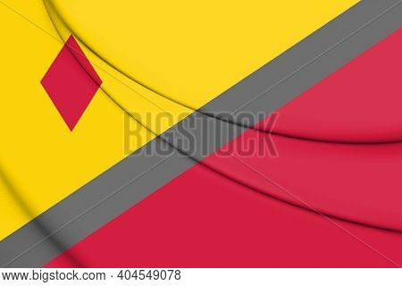 3d Flag Of Stein (limburg), Netherlands. 3d Illustration.