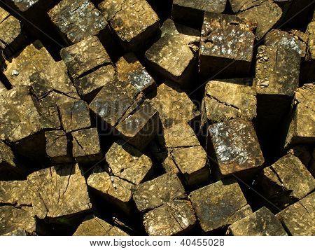 Wood pile pattern